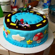 Super Mario birthday cake for my son's 5th birthday