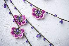 turkish lace needle lace crochet oya necklace by beyhan1972