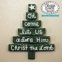 Christmas Decor, Christmas Tree, Christmas Carols, Christmas Scripture, Wooden Sculpture, Wall hanging, whimsical folk art