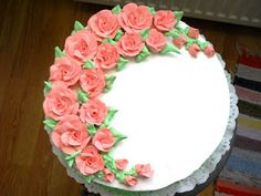 Rozsika tortái: Virág torta 2