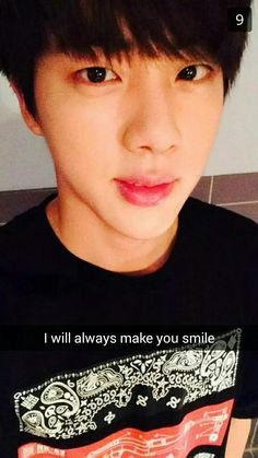caption is fake but jin is so perfect