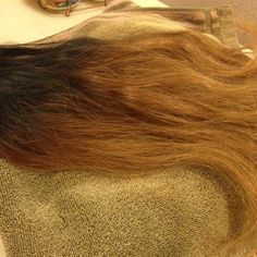 ❌ SOLD ❌ Ombré Brazilian Human Hair Extensions These extensions are 100% human hair , very soft . These extensions are from 16 inches to 24 inches long &'nd they are ombré . They start off black &'nd gradually transition into a pretty golden blonde ! These extensions can be curled , straightened , colored &'nd bleached ! 100% human hair ! Comes w/ 19 wefts total , more than a FULL head of THICH hair !                                                                        ** 1 bundle = $40…