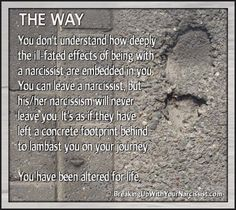 """People don't get how disordered a narcissist is; how badly the narcissist messes with your head. We won't listen when you tell us to just """"get over it"""". This is deeper than your normal end of relationship process because this wasn't a normal relationship; it was a hit and run. These people murder a part of your soul and then leave the scene of the crime and blame you for it. — After Narcissistic Abuse - There is Light, Life & Love"""