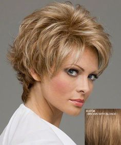 Short Wave Side Bang Human Hair Noble Charming Trendy Fluffy Capless Wig For Women