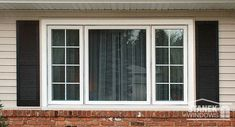White Cat Windows With Interior Colonial Grids Flank A Picture Window Homeimprovement