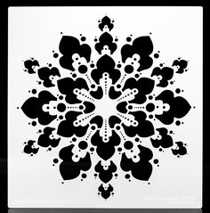 Snowflake Negative Doily. Wall / Art / Craft / Painting / Makeup / Furniture / Tattoo / Overlay Airbrush Stencil. by OverlayAirStencils on Etsy
