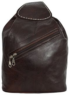 Mochila de cuero estilo retro. Estilo Retro, Unisex, Leather Backpack, Backpacks, Bags, Fashion, Purses, Make Up, Elegant