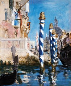 View in Venice-The Grand Canal, 1874, Édouard Manet, oil on canvas