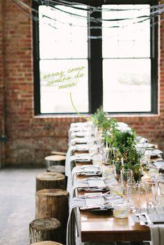 Ervas como centro de mesa