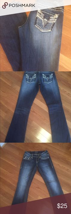 Vigoss Jeans Vigoss Dark Wash Jeans Size 1 Inseam 33 inches The Brooklyn Boot Cut Excellent used condition Vigoss Jeans Boot Cut