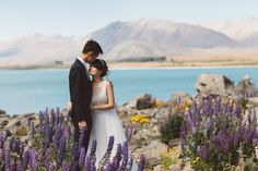 Engagement photoshoot with breathtaking background | A Serene Elopement At Lake Tekapo, New Zealand | http://www.bridestory.com/blog/a-serene-elopement-at-lake-tekapo-new-zealand