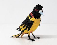 paper birds, made by colombian artist Diana Beltran Herrera
