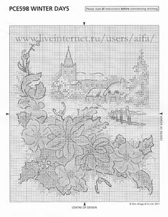 winter  3 Cross Stitch Landscape, Cross Stitch Pictures, Cross Stitch Animals, Ribbon Work, Blackwork, Cross Stitch Patterns, Needlework, Embroidery, Stitches