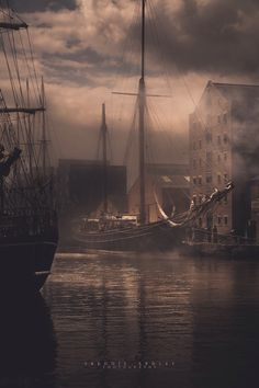 Frederick Ardley fine art landscape photography Alice Through the Looking Glass film gloucester docks ships of the past british photographer Gloucester Docks, Bateau Pirate, Old Sailing Ships, Ship Paintings, Pirate Life, Sail Away, Through The Looking Glass, Tall Ships, Scenery