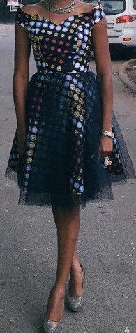 African print Tulle dress by CoCoCremeCouturier on Etsy ~African fashion, Ankara, kitenge, African women dresses, African prints, African men's fashion, Nigerian style, Ghanaian fashion ~DKK