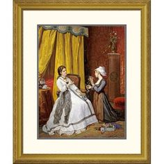 Global Gallery 'Flowers For The Lady' by Auguste De Pinelli Framed Painting Print Size: