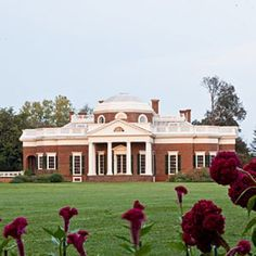 Monticello, Charlottesville, Virginia - Thomas Jefferson's home, one of the South's most historic homes.