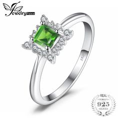 JewelryPalace Brand Square Natural Chrome Diopside 925 Sterling Silver Classic Ring For Women Gift Fashion Fine Jewelry. Product ID: Only Fashion, Love Fashion, Autumn Fashion, Fashion Group, Fashion Ideas, Engagement Ring Types, Jewelry Accessories, Fashion Accessories, Fashion Clothes