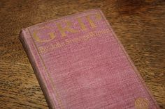 Grip by John Strange Winter 1896, Antique Book, Red Book with Gilt, Red and Gold, Henrietta Stannard, Red Decor, 1800s by CarisHome on Etsy