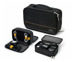 The Techarge is a compact, padded case that organizes all of your power cords, while also charging up to 3 electronic devices. No more looking for available power outlets for all your mobile devices – simply plug everything into the Techarge case and one power outlet is all you need – ideal for traveling or even to use at home.