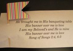 This small banner palanca/agape is a gift that is easy and inexpensive to make and can be used for any weekend. A great idea!