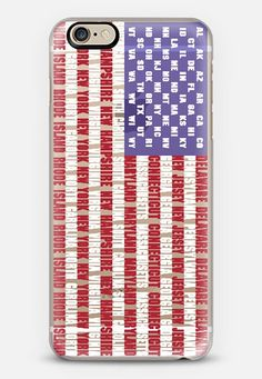 American Flag - States and Colonies iPhone 6 case.  Clear case with the stripes detailing the Colonies and the 'stars' detailing the States.  Check out my new @Casetify   Make yours and get $10 off your first order using code: ZN4AQG #casetify #iphonecase #case #phonecover #customcase #flag #AmericanFlag #stars #stripes #red #white #blue #patriotic #patriotism #states #colonies #clear #transparent #transparentcase