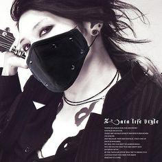 Punk Rivet Two layer Fashion Cotton Mask