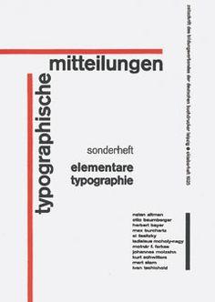 Elementare Typografie ¬ Sonderheft der Typographischen Mitteilungen 1925