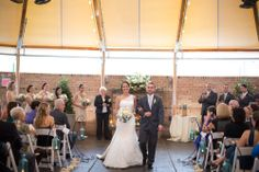 Fall wedding ceremony - Savannah Series tent at the Tidewater Inn