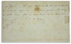 letter by Madame du Barry