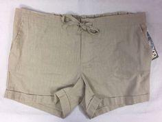 New Daisy Fuentes Pumice Shorts Comfort Zone Ladies Size Medium Linen Cotton NWT #DaisyFuentes #CasualShorts