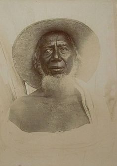 """An elderly Bezanozano man, c 1841  The Bezanozano are believed to be one of the earliest Malagasy ethnic groups to establish themselves in Madagascar, where they inhabit an inland area between the Betsimisaraka lowlands and the Merina highlands. Their name means """"those of many small plaits"""" in reference to their traditional hairstyle, and like the Merina they practice famadihana (the reburial ceremony)"""