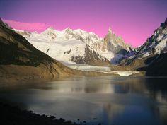 Cerro Fitz-Roy, lago De Las Vueltas, Parque Los Glaciares, provincia de Santa Cruz, Argentina