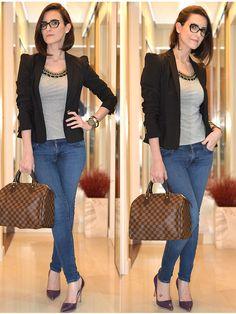 Look com jeans que vai do shopping ao escritório.