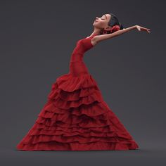 Flamenco Dancer, Guzz Soares on ArtStation at https://www.artstation.com/artwork/Gm6B1
