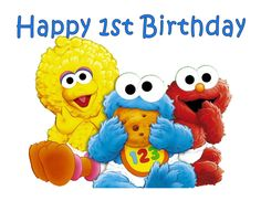 Baby Sesame Street edible party cake topper cake image