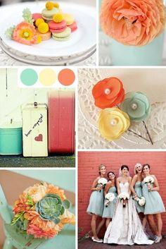 #TuFiestaTip -Amarillo, melón y verde una combinación para tu boda en este verano.