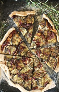 Eggplant and Caramelized Onion Pizza | My Darling Vegan