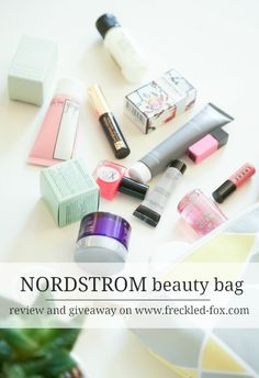 The Freckled Fox : Nordstrom Beauty Bag | Review Video + Giveaway!