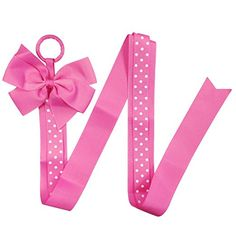 Amazon.com: Wrapables Hair Clip and Hair Bow Holder, Hot Pink Polka Dots: Clothing