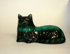 Blue Mountain Pottery Cat Cat Figurine by PineCottageVintage