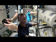 Astronaut Chris Hadfield Gets a Haircut in Space