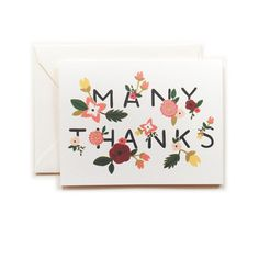 Rifle Paper Co.: Ava Thank You Card 8 Pack, at 11% off!