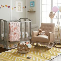 Floral Rush Crib Bedding   The Land of Nod #GoldBedding