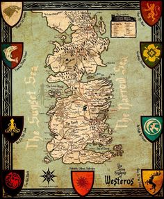 Game Of Thrones Houses Map Westeros New Art Print poster Decor 68 Game Of Thrones Westeros, Westeros Map, Game Of Thrones Houses, Game Of Thrones Wallpaper, Got Map, Map Games, Leather Wall, Map Wallpaper, Movie Posters