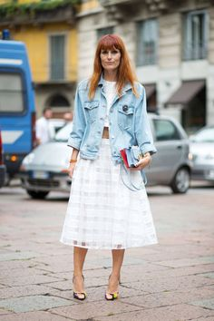 New street street snaps in straight from Milan Fashion Week. See all the stylish looks here: