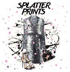 """paint splat"" by the-vintage-palace2016 ❤ liked on Polyvore featuring Lisa Perry, Diane Von Furstenberg, Giuseppe Zanotti, STELLA McCARTNEY, Casadeco, paintiton and splatterdress"