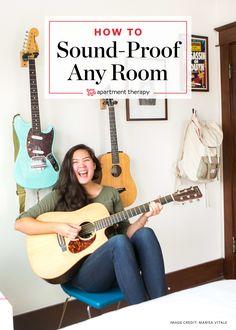 Soundproof Your Rental Bedroom in Under 10 Minutes Rental Apartments, Small Apartments, Small Spaces, Apartment Therapy, Apartment Ideas, Apartment Makeover, Apartment Living, Music Studio Room, Music Rooms