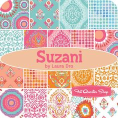 Suzani Yardage Laura Dro for Camelot Cottons - Fat Quarter Shop