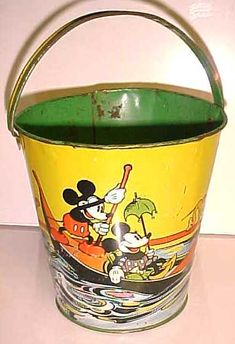Mickey mouse vintage Toy bucket